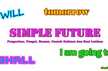 Simple Future Tense - Pengertian, Fungsi, Rumus, Contoh Kalimat dan Soal Latihan