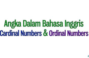 Pembahasaan Terlengkap Angka Numbers dalam Bahasa Inggris