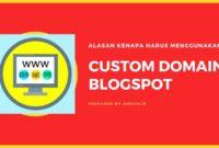 Alasan Kenapa Harus Menggunakan Custom Domain Blogspot