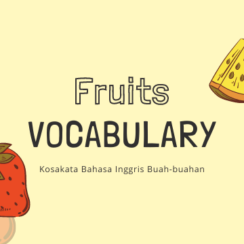 Fruits Vocabulary Thumbnail